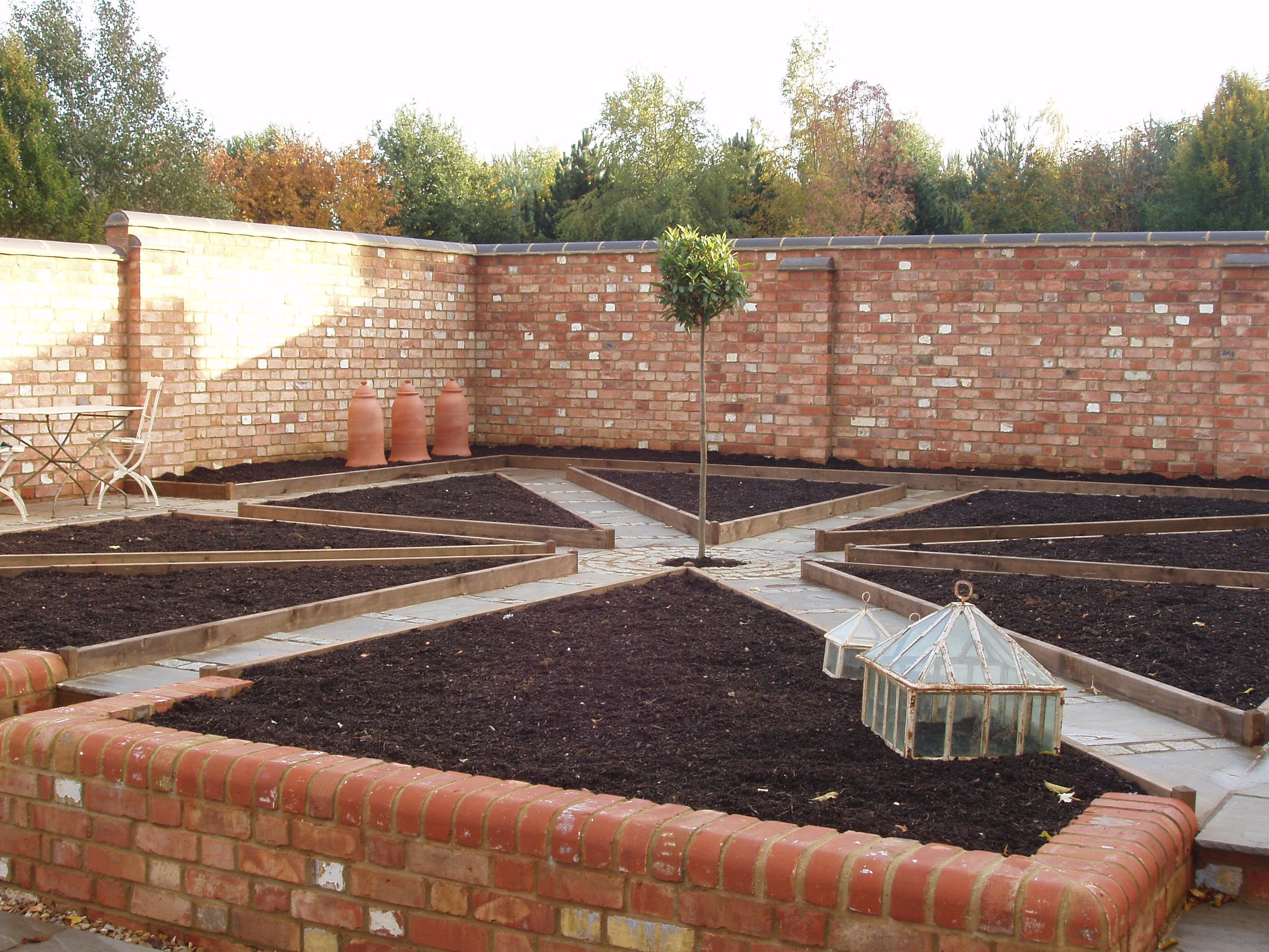 Walled Kitchen Gardens Construction Just Completea Productive Walled Kitchen Garden